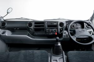 The center cluster features an intuitive layout that places everything the driver needs close at hand
